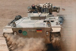 AFV Marder1A5 in action with the ISAF troops in Afghanistan.  Source: Bundeswehr