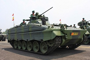 AFV Marder1A3 in service with the Indonesian armed forces.  Source: Wikimedia